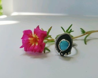 Posey Ring| Turquoise & Sterling Silver