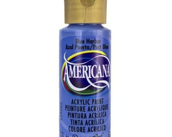 Americana Acrylic Paint, Blue Harbor, 2 oz bottle
