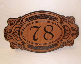 Personalized Door Wood Sign,Mailbox House Numbers.Laser Engraved.Gift.