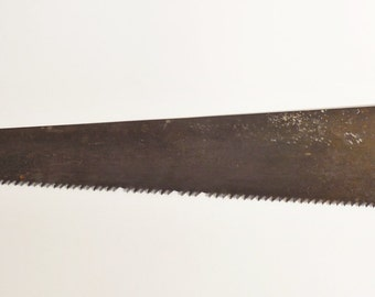 Antique Cast Steel Saw with Cast Iron Handle - Ice Saw or Docking Saw