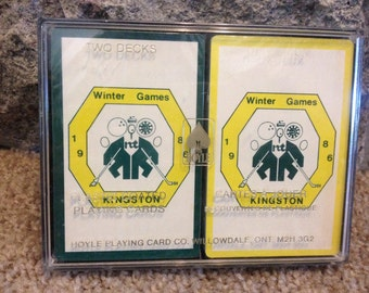 Vintage 1986 Winter Games Playing Cards