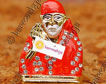 Shirdi Sai Baba Saibaba Sairam Statue Idol Car Hanging Dashboard Study Work Desk CS0012