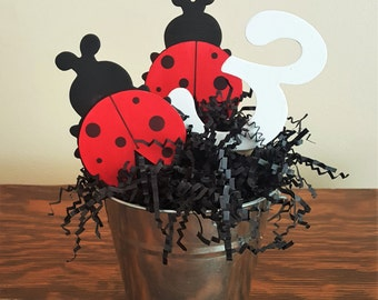 Ladybug Centerpiece, Ladybug Baby Shower, Ladybug Birthday Party, Baby Shower Centerpiece, Birthday Party Centerpiece, Ladybug Party Decor