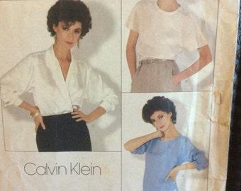 Vogue patterns American Designer 1128 Calvin Klein size 12