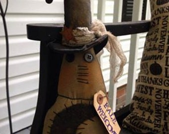 """Made to Order: 12"""" handmade Fall witch"""