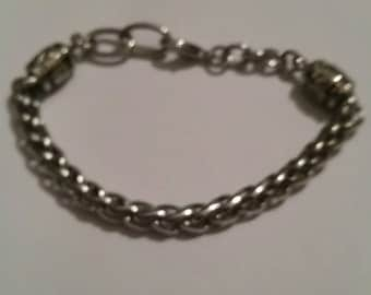 Silver Woven Bracelet Braided Costume Jewelry