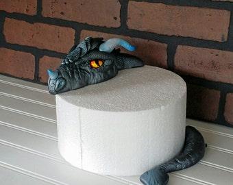 fondant dragon cake topper edible rice krispie cake set