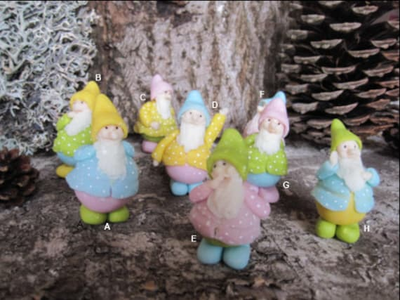 SMALL DWARFS of the forest, autumn, pastel, porcelain cold saeljana