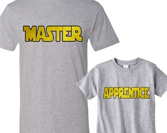 Master - Apprentice Heather Shirts Daddy and Me Shirt Set