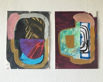 Abstract collage pair no.1