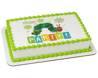 The Very Hungry Caterpillar Edible Cake or Cupcake Toppers - Choose Your Size
