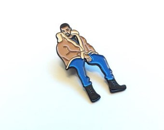 Pins, Drake Enamel Pin, Drake Sitting Pin, Drake Pin, Enamel Pins