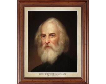 Henry Wadsworth Longfellow portrait by Thomas Buchanan; 16x20 print on premium heavy photo paper
