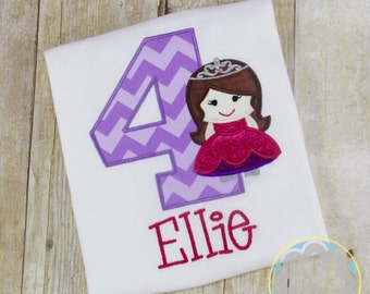 Princess, Fairytale, Girly Themed Party Personalized Birthday Shirt