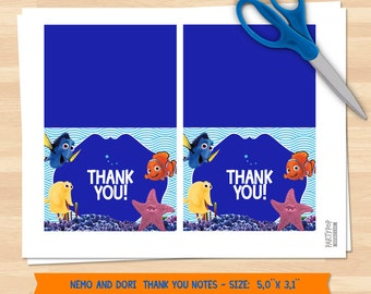 INSTANT DOWNLOAD Finding Nemo Thank You Notes