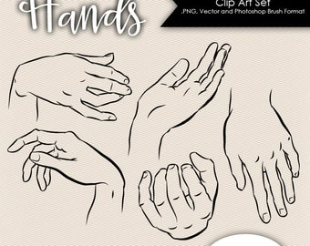 Hands Clip Art .PNG files, Vector files & Photoshop Brushes