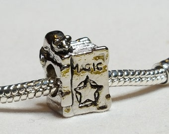 Witches Coven Book of Evil Spells Charm - Halloween Charm - Fits all Designer and European Charm Bracelets*