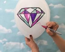 Diamond Balloons , Diamond Wedding Balloons 11 Inch Balloons, Reception Decor and Wedding Decor
