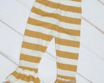 Mustard Stripe Leggings IN STOCK