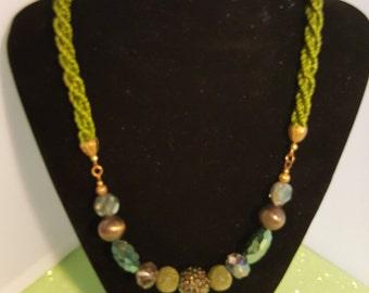 Kumihimo necklace -101