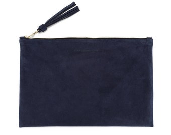 Clutch - Navy Suede