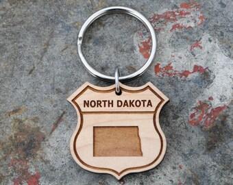 North Dakota State KEYCHAIN
