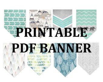 Woodland Banner Printable PDF
