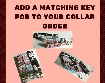 Add a Matching Key Fob to Your Collar Order