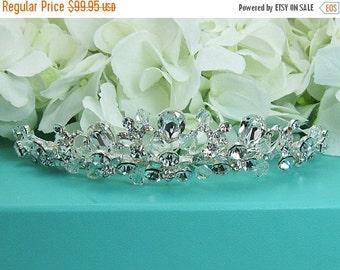 SALE 30% Off Swarovski Crystal Bridal tiara headpiece, wedding tiara, wedding headpiece, rhinestone tiara, crystal tiara, crystal accessorie