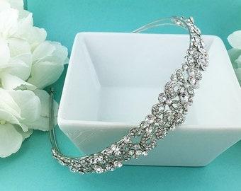 Crystal Bridal Headband, Crystal rhinestone wedding headband, bridal wedding hair accessories, wedding headband headpiece, 270846010