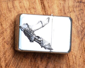 Bat L.E. Petrol Windproof Lighter Engraved Gift