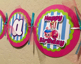 "NEW STYLE ""2 IN 1"" Shopkins Birthday Banner, Shopkins Invitation, Shopkins Birthday, Shopkins Party, Shopkins Birthday Shirt, Shopkins"