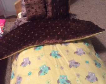 Doll bedding for American girl, and other 18 inch dolls