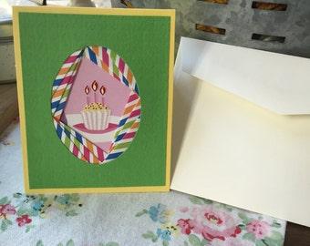 Birthday Cake Iris Folding Card