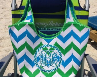 Beach Bag, Monogram Beach Bag, Personalized Bag, Tote Bag, Overnight Bag, Bag, Neoprene Beach Bag, Travel Bag, Monogram Tote Bag