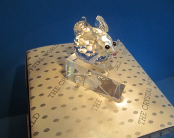 small Chrystal Cheese Mouse  Figur  vintage