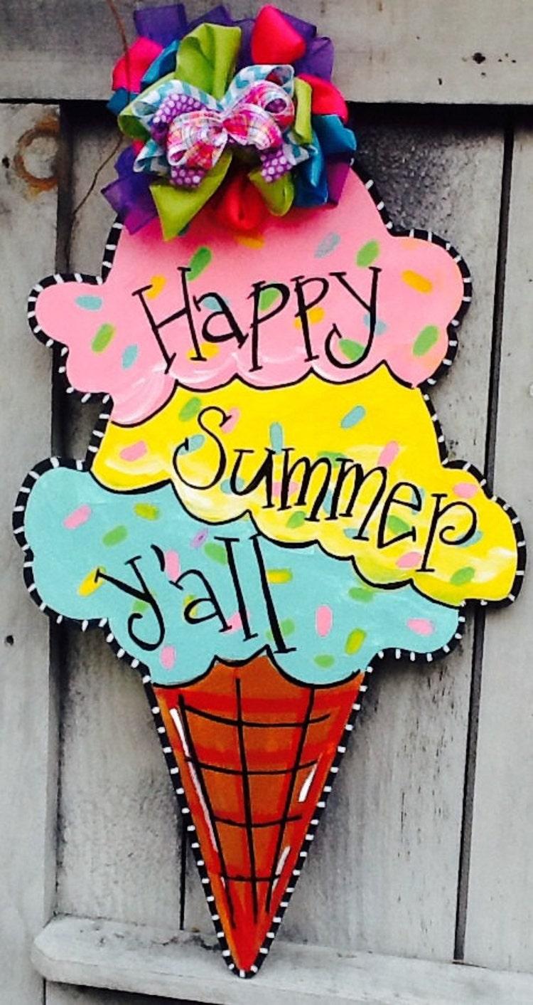 Happy Summer Door Hanger Summer Door By Angelascreativecraft