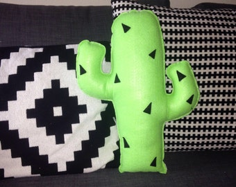 Cactus Pillow , Prickly Cactus Plush, Geeky felt stuffed plush toy pillow