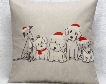 Christmas Pups - Pillow Cover