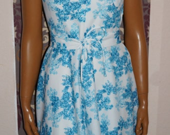 1960's Flower Dress Twiggy-Style