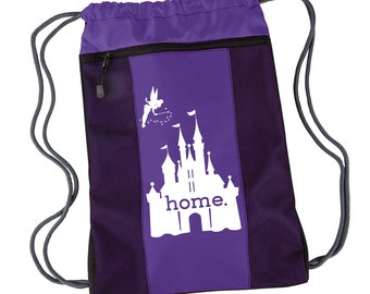 Disney Is My Home Nylon Cinch Backpack