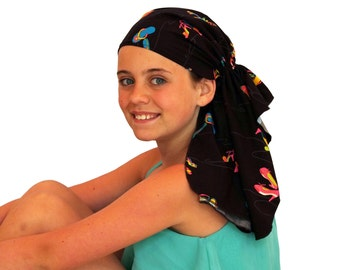 Ava Joy Children's Pre-Tied Head Scarf, Girl's Cancer Headwear, Chemo Head Cover, Alopecia Hat, Head Wrap, Cancer Gift for Hair Loss - Shoes