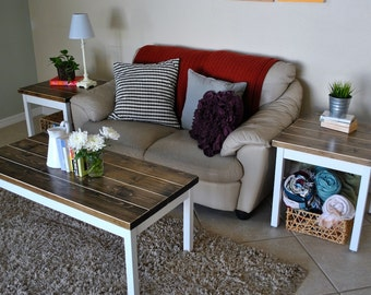 Wood Living Room Set - Coffee Table Set - Side or End Tables