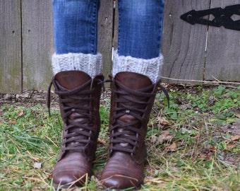 Chunky Knit Boot Cuffs // Leg Warmers // Taughannock Cuffs