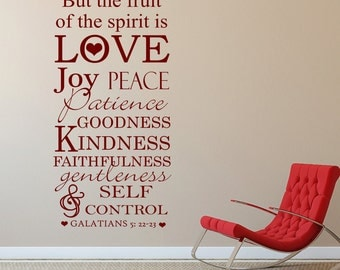 But the fruit of the spirit is love - Galatians christian wall art design, living room, bedroom, hallway, decorating, decorative design