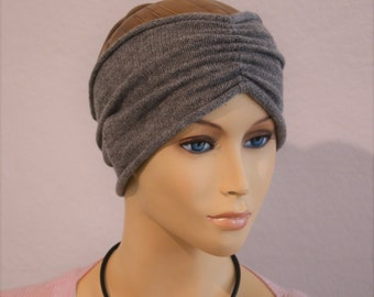 "Headband ""Nele"", knitwear, handmade, 100 % Cashmere, turban style, ear warmers, present for her"