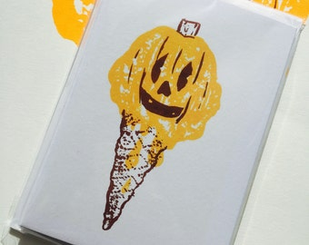 Ice-sCream Halloween Cards