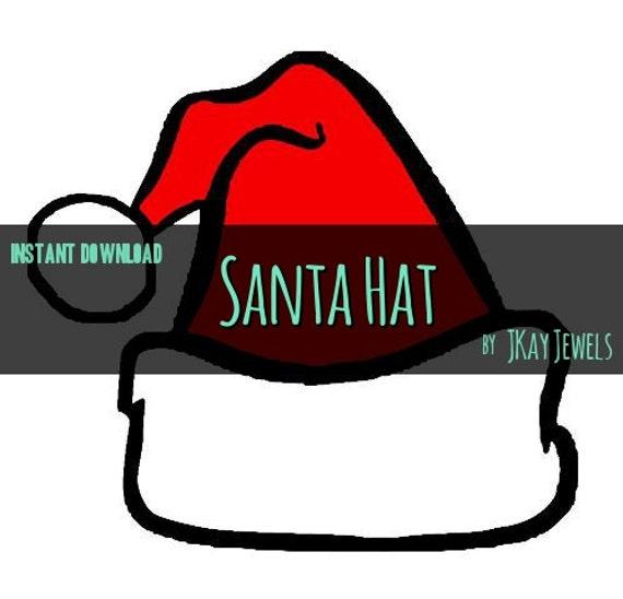 Santa hat silhouette svg file for die cut vinyl machines and