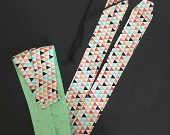Weightlifting Gold & Pastel Triangles Wrist Wraps