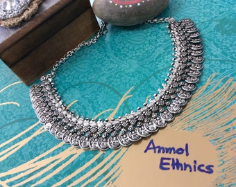 Beautiful Oxidized Coin Necklace